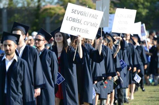 Boğaziçi Üniversitesi 2013 yılı mezuniyet töreninden bir pankart